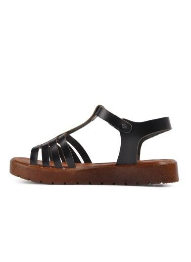 Castle Black R10000 Siyah Kadın Sandalet Siyah